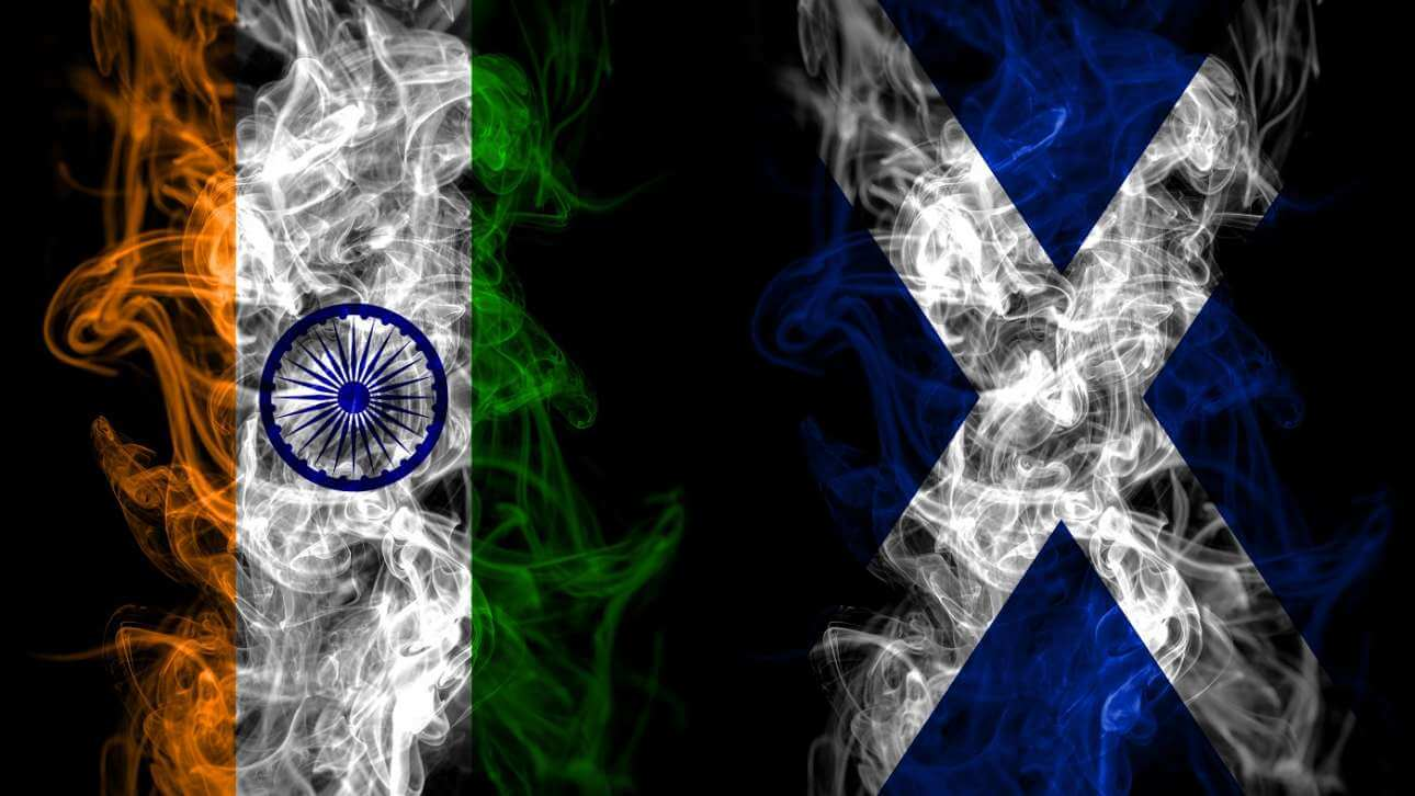 Flags of Scotland and India